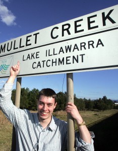 Mullet Creek, Dapto (copyright Sylvia Liber, Illawarra Mercury)