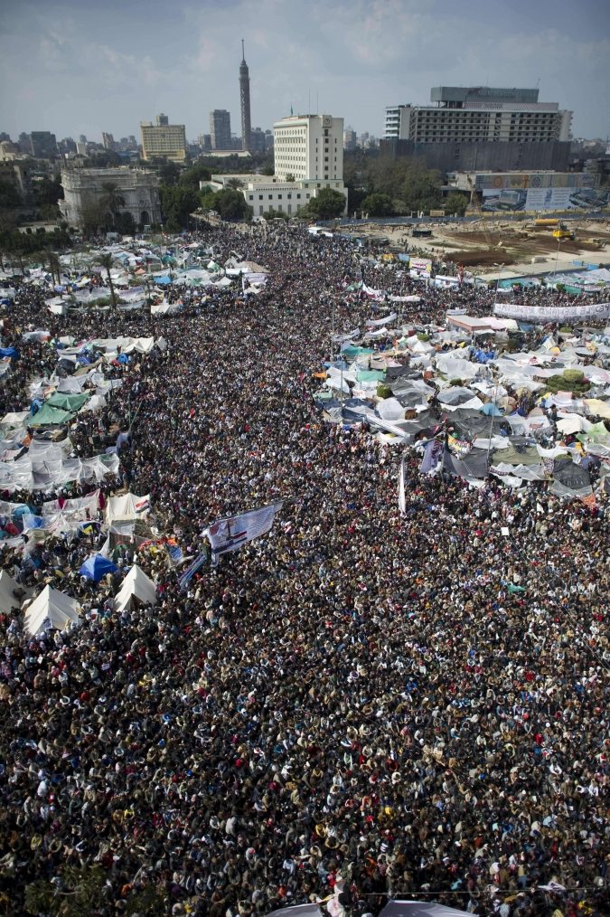 Demonstrations in Tahrir Square, Cairo (from Al Jazeera). See this link for plenty more spectacular photos.