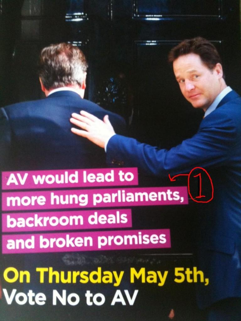 No2AV leaflet (front)