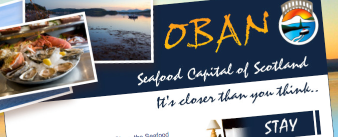 A screen capture from the official Oban website
