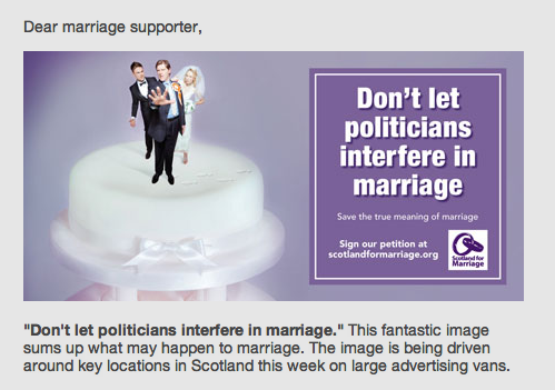 "Campaign image from ""Scotland for Marriage"""