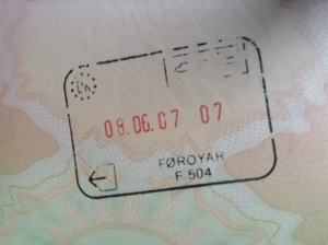 Faroes passport stamp