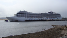 A cruise ship in Invergordon