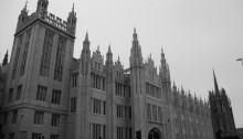 Marischal College on a grey day