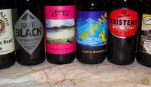 Beers from some of Scotland's island breweries