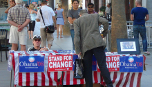 Obama stall, 2008